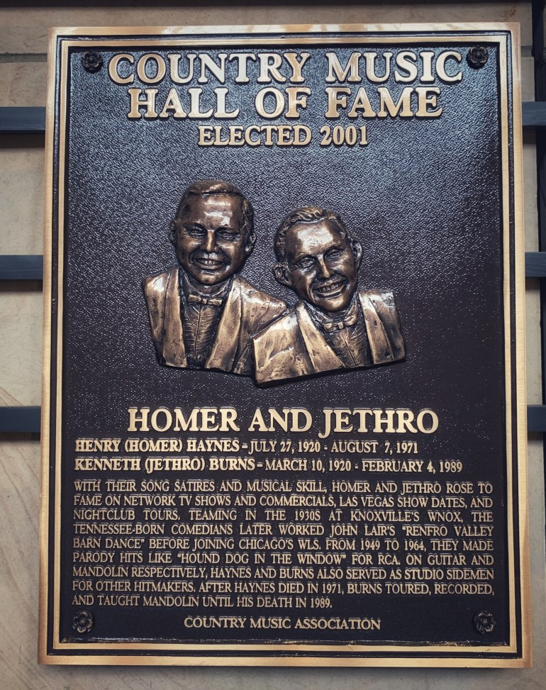 Homer and Jethro at the Country Music Hall of Fame in Nashville, Tennessee