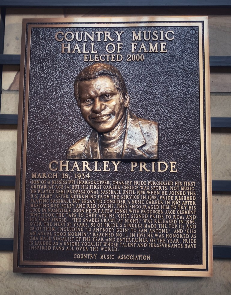 Charley Pride at the Country Music Hall of Fame in Nashville, Tennessee