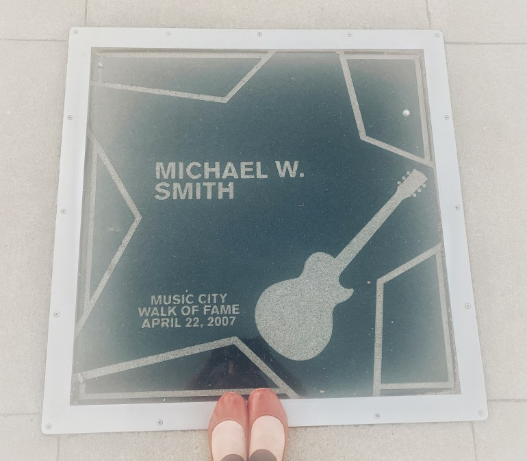 Michael W Smith on the Music City Walk of Fame in Nashville, Tennessee
