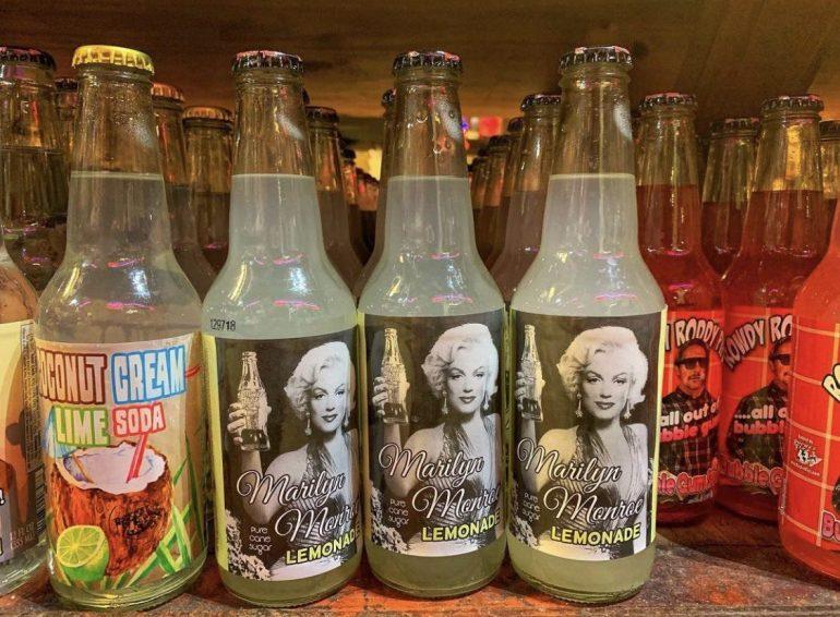 Marilyn Monroe Lemonade at Rocket Fizz in Portland, Oregon