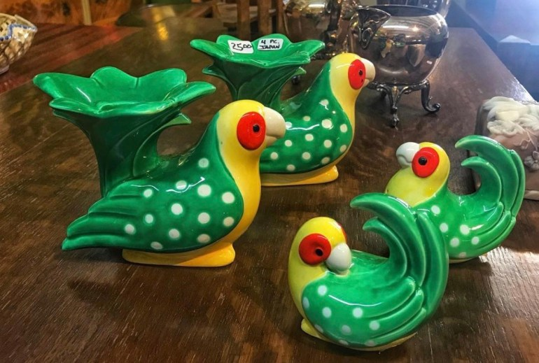 Green Birds:  An Afternoon of Antiques in Snohomish, Washington