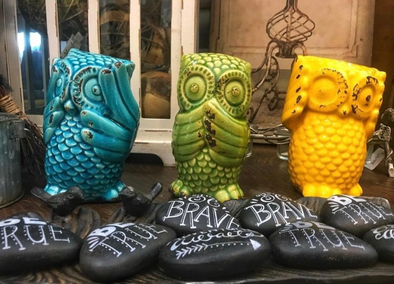 A Trio of Owls:  An Afternoon of Antiques in Snohomish, Washington