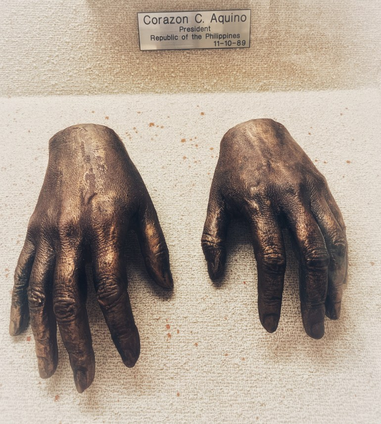 Corazon C Aquino: The Hand Collection at the Baylor University Medical Center in Dallas, Texas