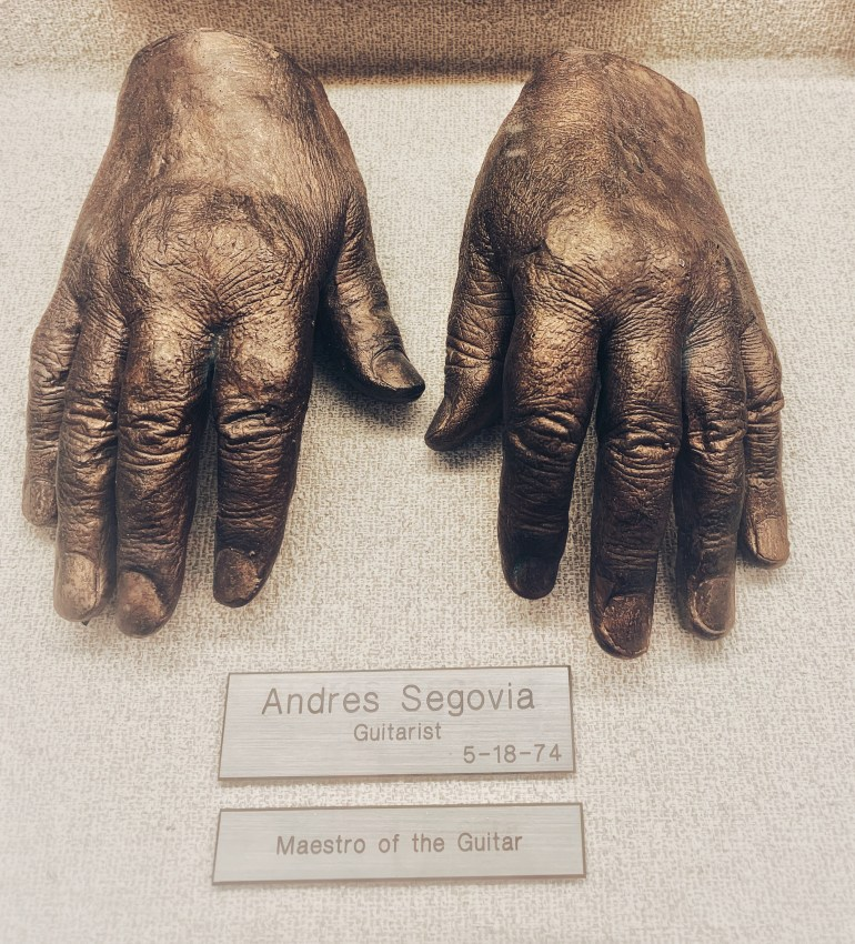 Andres Segovia: The Hand Collection at the Baylor University Medical Center in Dallas, Texas