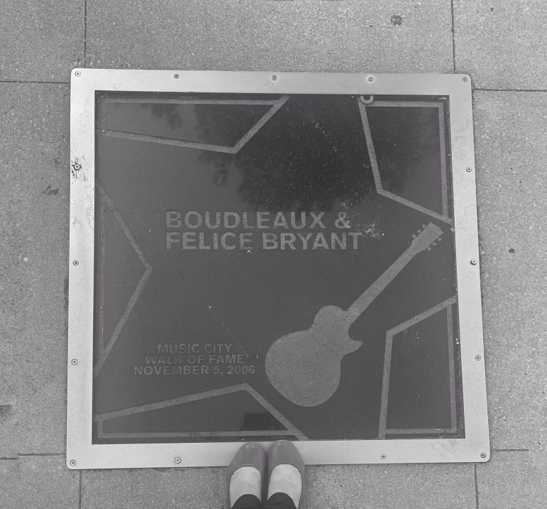 Black and White: Boudleaux and Felice Bryant on the Music City Walk of Fame in Nashville, Tennessee