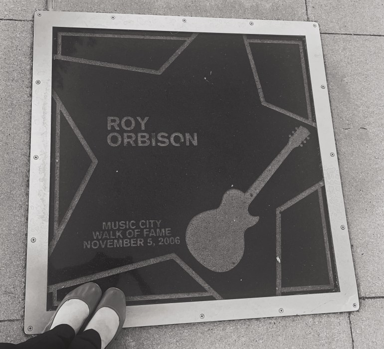 Black and White: Roy Orbison on the Music City Walk of Fame in Nashville, Tennessee