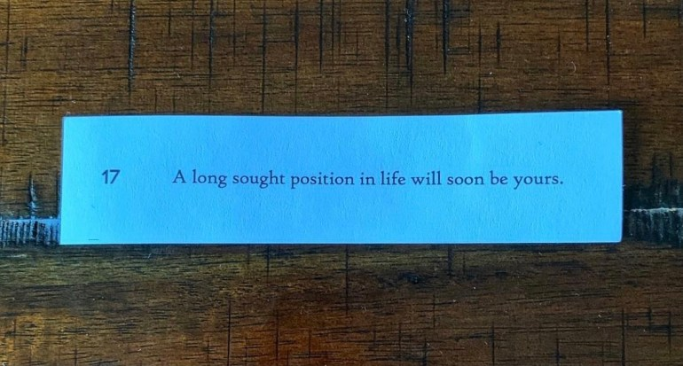 Fortunes from the Lan Su Chinese Garden in Portland, Oregon