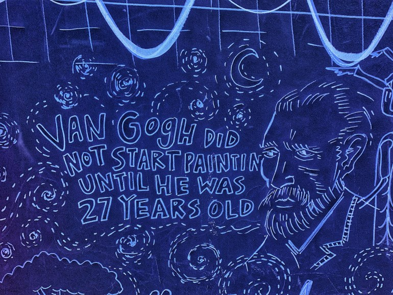 Van Gogh Did Not Start Painting Until He was 27 Years Old: Fun Facts at the WNDR Museum in Chicago