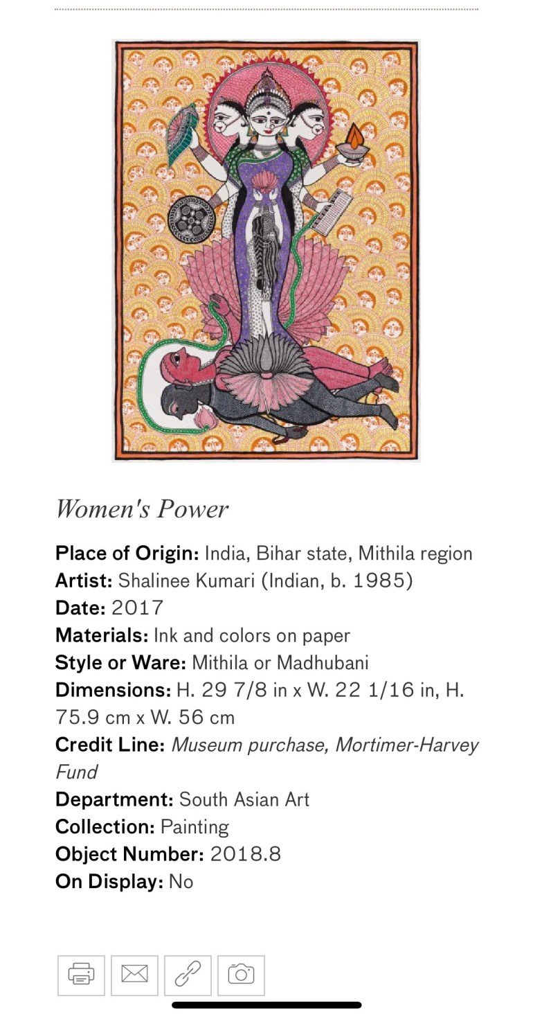 Women's Power: Touring Art Museums During Covid: A Virtual Tour of Painting is My Everything: Art from India's Mithila Region at the Asian Museum of Art in San Francisco