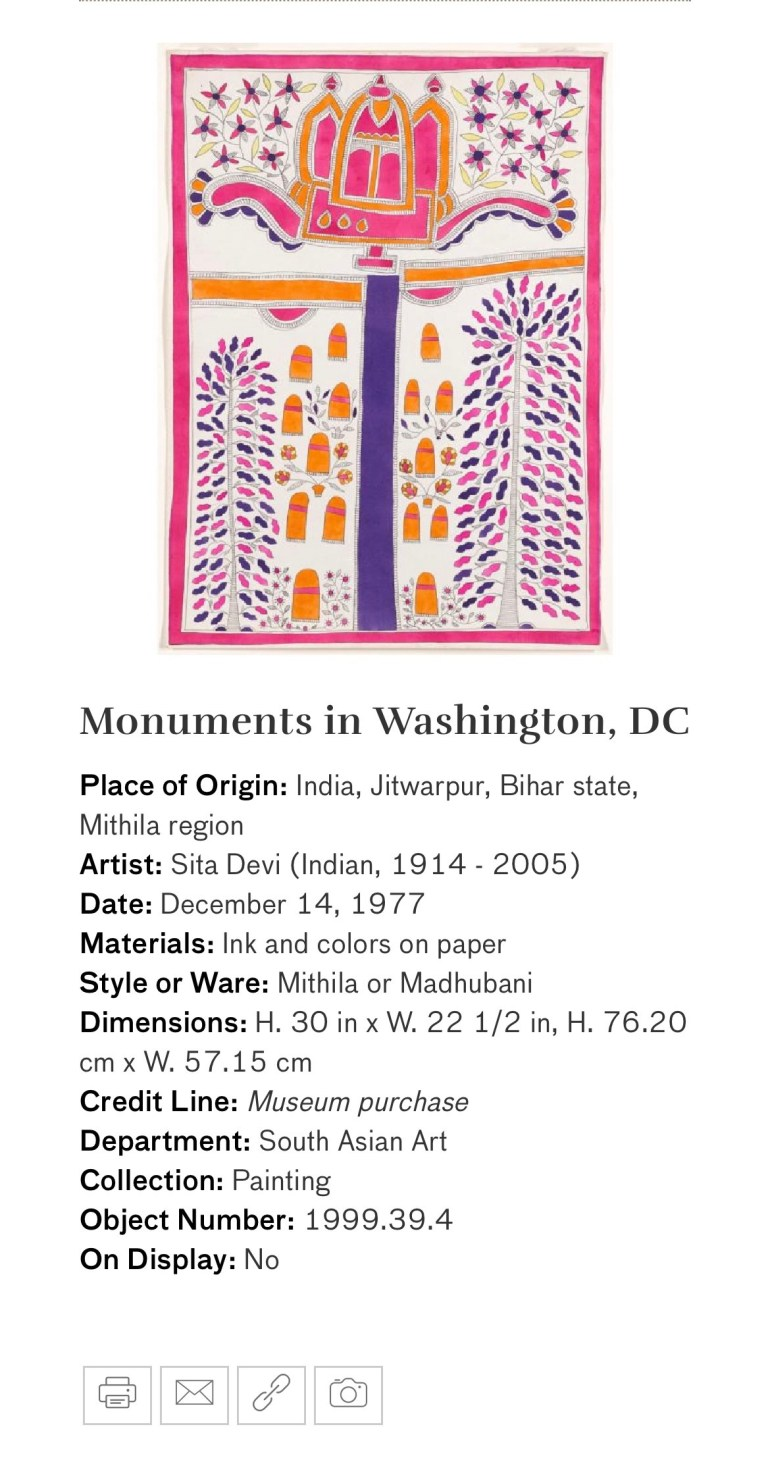 Monuments in Washington DC: Touring Art Museums During Covid: A Virtual Tour of Painting is My Everything: Art from India's Mithila Region at the Asian Museum of Art in San Francisco