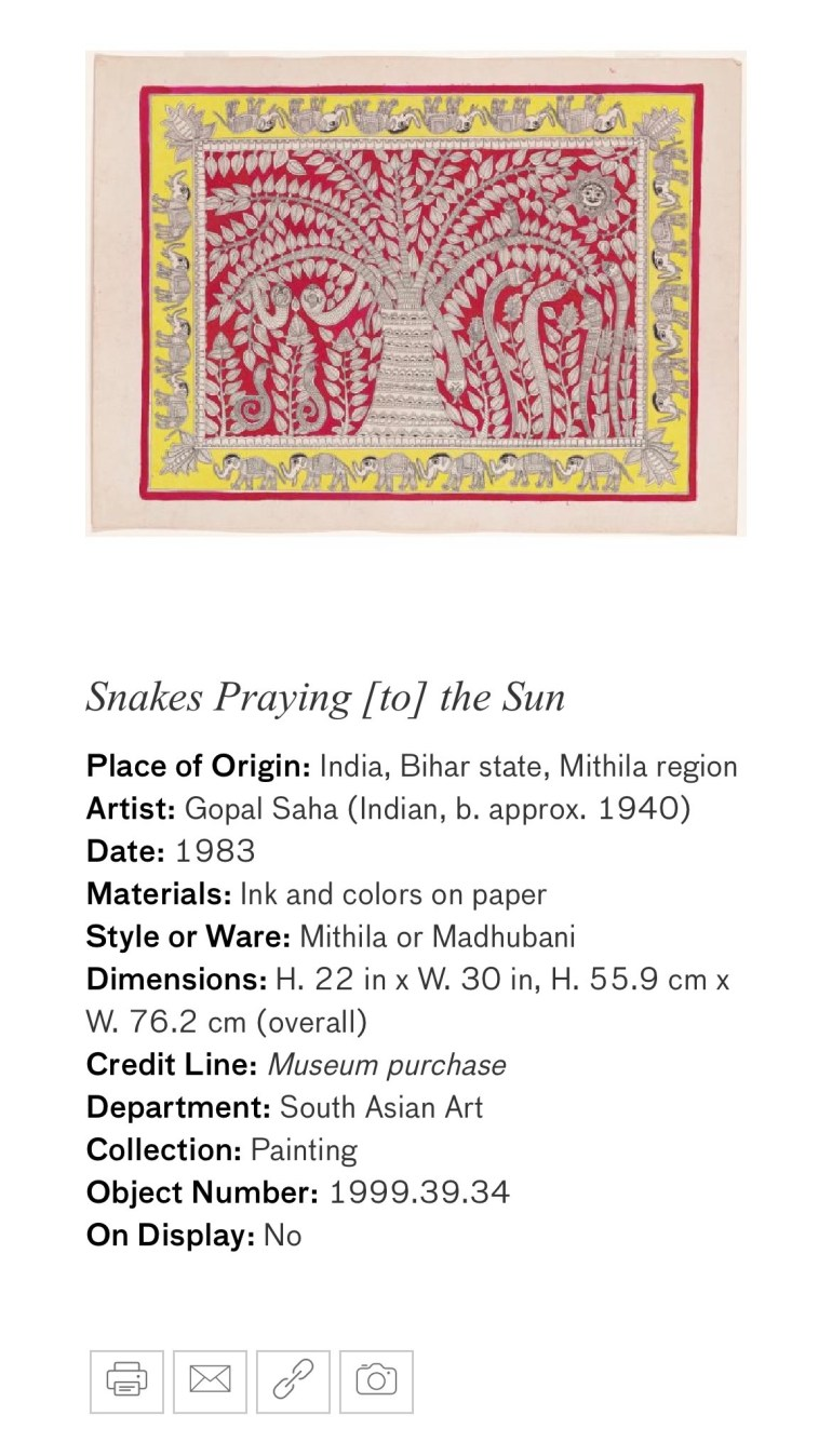 Snakes Praying to the Sun: Touring Art Museums During Covid: A Virtual Tour of Painting is My Everything: Art from India's Mithila Region at the Asian Museum of Art in San Francisco