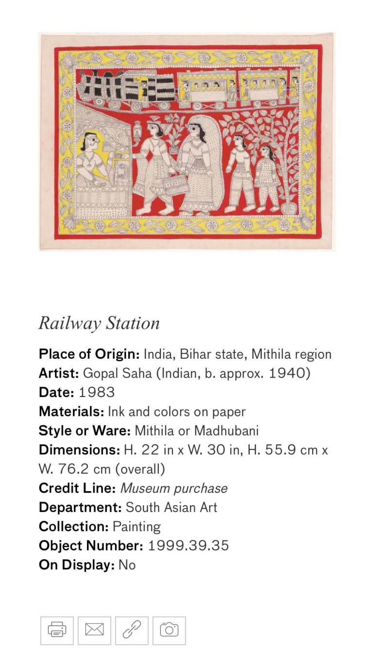 Railway Station: Touring Art Museums During Covid: A Virtual Tour of Painting is My Everything: Art from India's Mithila Region at the Asian Museum of Art in San Francisco