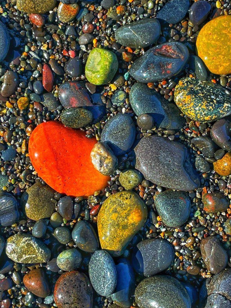 Rocks at Rialto Beach, Washington State