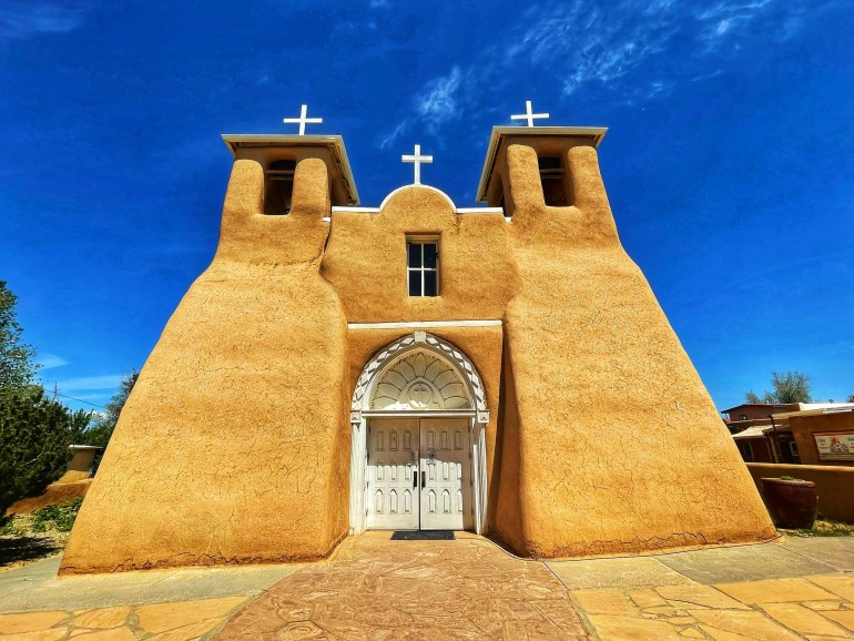 St Francis of Assisi Church Near Taos, New Mexico