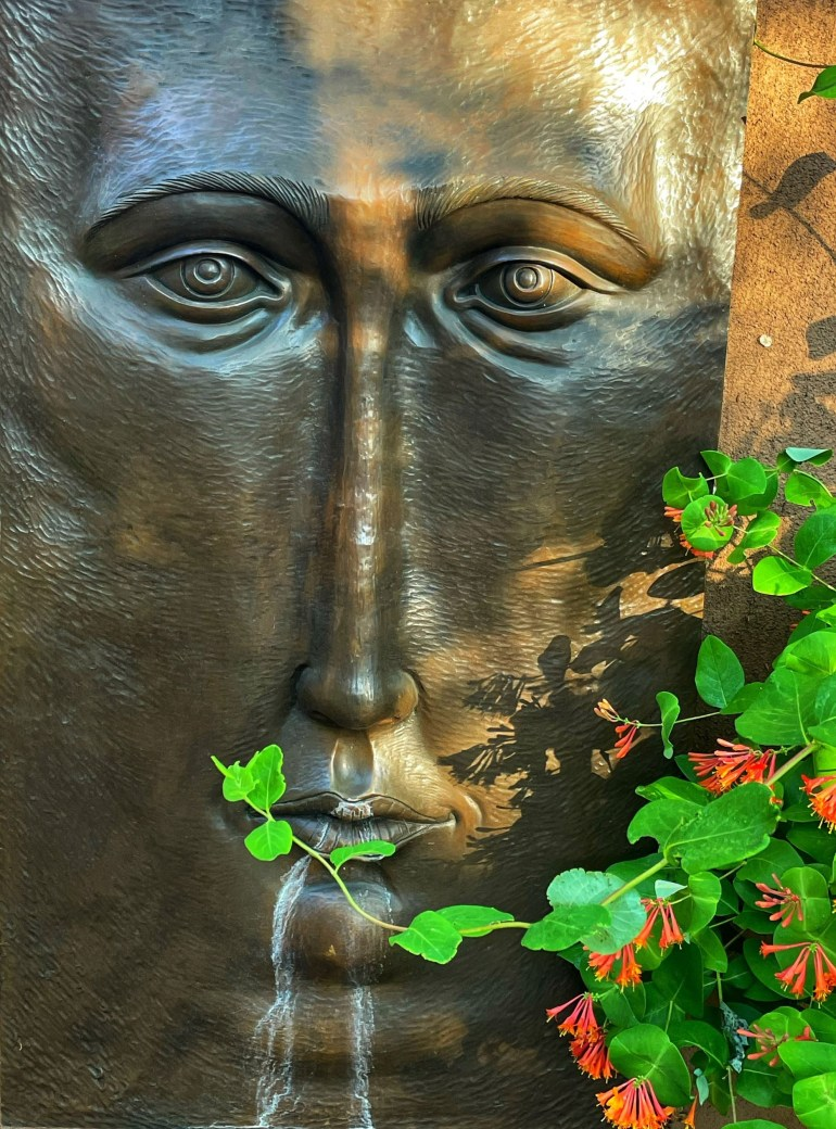 Saturday Sculpture: An Early Morning on Canyon Road in Santa Fe, New Mexico