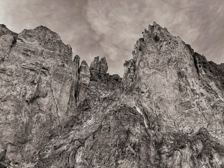 Black and White at Smith Rock State Park, Oregon