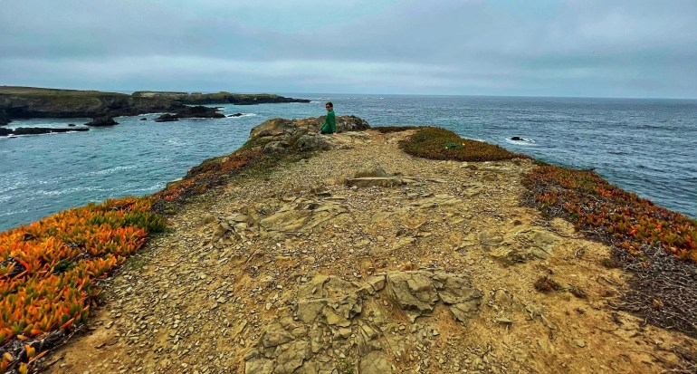 Hiking at Headlands State Park in Mendocino, California