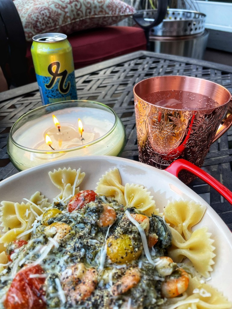 Summer Evening Dinners (and Moscow Mules!) on the Patio