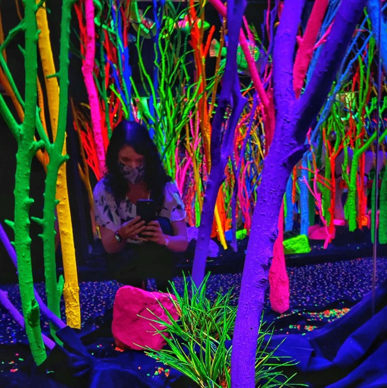 The Hall of Neon Trees at Meow Wolf in Santa Fe, New Mexico Part I