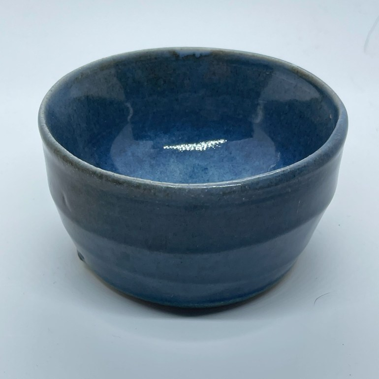 Off the Pottery Wheel: Blue Bowl