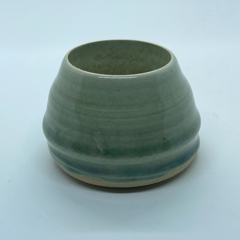 Off the Pottery Wheel: Tiny Green Celadon Vase