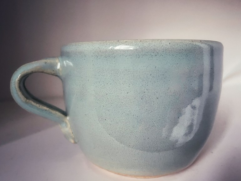 Off the Pottery Wheel:  My Very First Mug