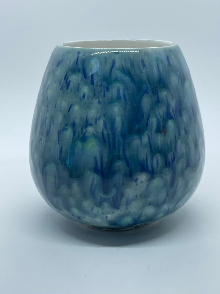 Off the Pottery Wheel: Monet Inspired Wine Glass