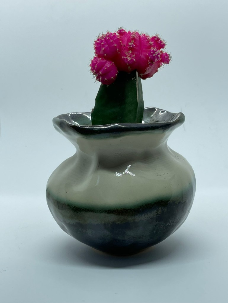 Off the Pottery Wheel: Tri Colored Vase