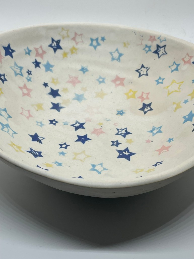 Off the Pottery Wheel: Starry Serving Bowl Using Elan Transfers