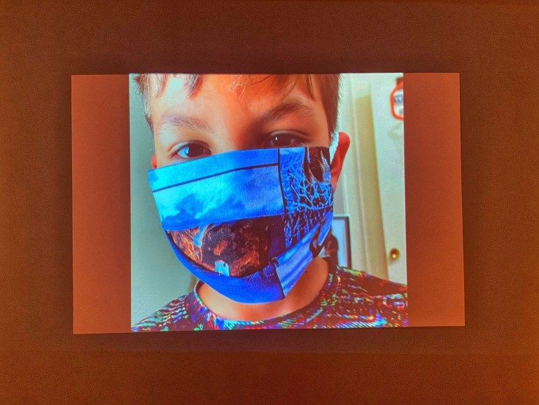 Blue Mask: #mask: Creative Responses to the Global Pandemic at the Museum of International Folk Art in Santa Fe, New Mexico