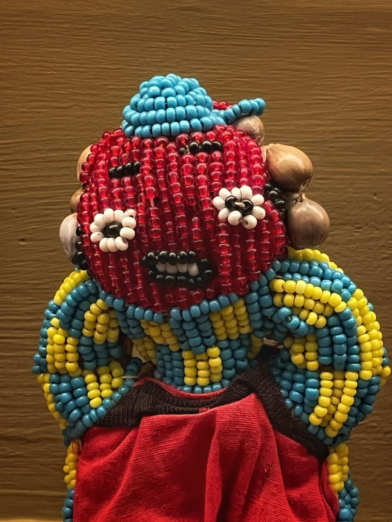 Red Faced at the Museum of International Folk Art in Santa Fe, New Mexico
