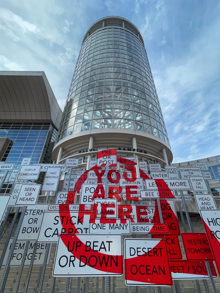 Up Beat or Down: At salt Palace Convention Center in Salt Lake City, Utah