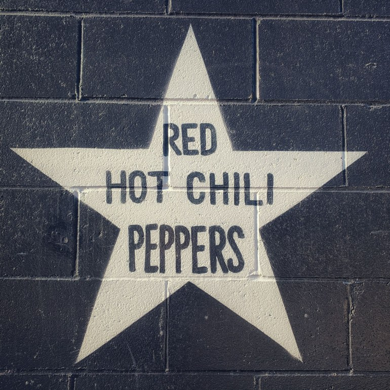 Red Hot Chili Pepper's Star on First Ave in Minneapolis, Minnesota