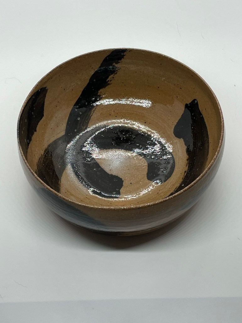 Hand Made Pottery: Dark Clay Serving Bowl