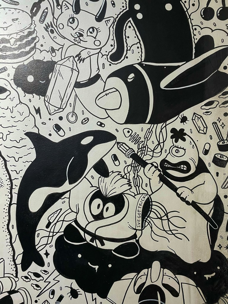 Black and White: At Meow Wolf in Santa Fe, New Mexico