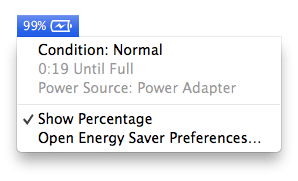 Battery with option