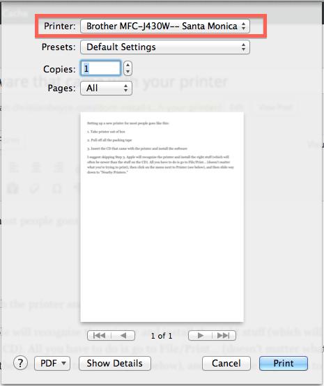 Print dialog box.