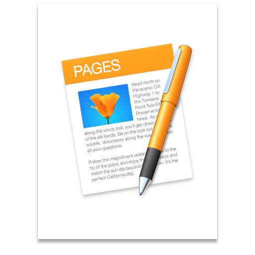 Pages app icon. Look at the detail!