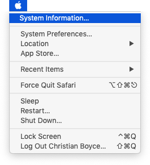 About This Mac has changes to System Information... when you hold the Option key