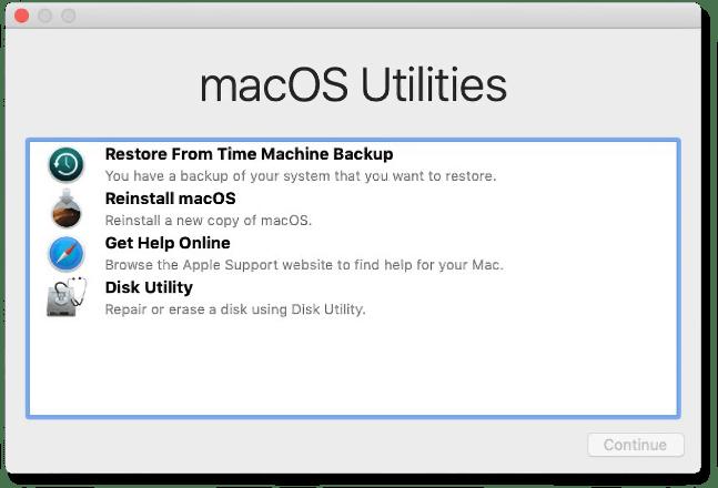 macOS Utilities screenshot