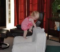 Climbing girl climbs everything!