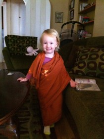 """She wanted to wear a sari after reading a library book """"Mama's Saris"""""""