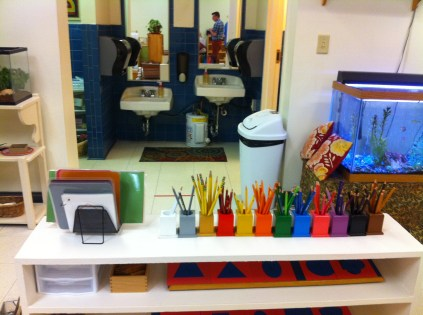 Various materials and low sinks in Primary class