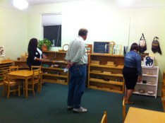 Parents observing in the Junior Elementary