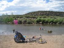 Chariot ride to one of the Dolores River swimming holes