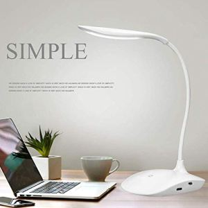FIgment Rechargeable LED Touch On/Off Switch Desk Lamp Children Eye Protection Student Study Reading Dimmer Rechargeable Led Table Lamps USB Charging Touch Dimmer(Desk Lights for Study)
