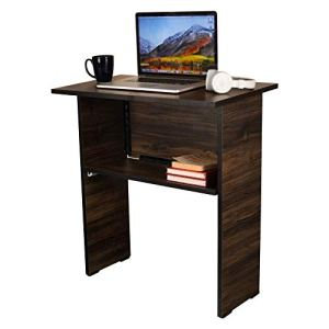 Puffin Wooden Folding Computer Table for Laptop Study, Home Desk, Office Desk, Standard Matt Finish Brown Color