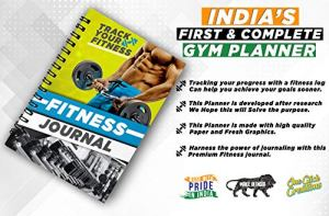 One click creations Exercise Fitness Daily, Weekly, Monthly Organizer with Hardcover 60 Days India's First and Complete Gym Planner Journal for Men