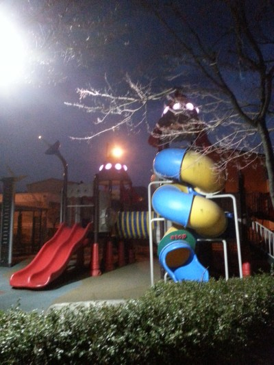Rocket ship playground
