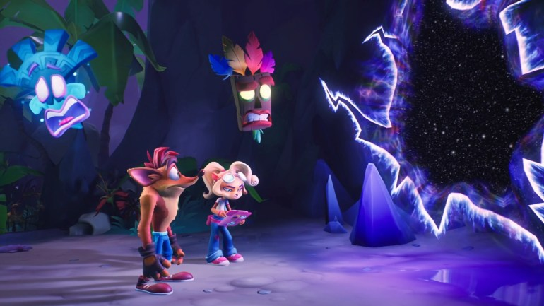 crash bandicoot and coco